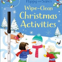 Wipe-clean Poppy and Sam's christmas activities, carte de tip scrie și șterge, usborne