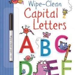 """Carte cu marker de tip """"scrie si sterge"""", Wipe-clean capital letters, Usborne"""