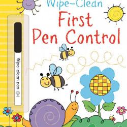 """Carte cu marker de tip """"scrie si sterge"""", Wipe-clean first pen control, Usborne"""