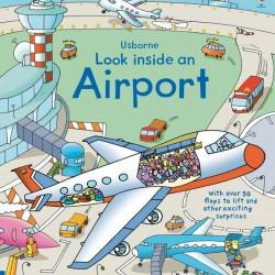 Carte cu multe clapete pentru copii curiosi, Look inside an airport