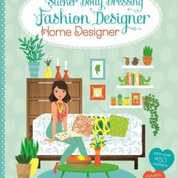 Carte cu stickere, Sticker dolly dressing home designer, usborne