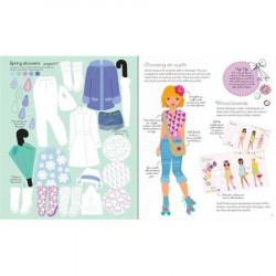 "Carte de activitati ""Fashion designer Spring and Summer collection"" , 7 ani+, Usborne"