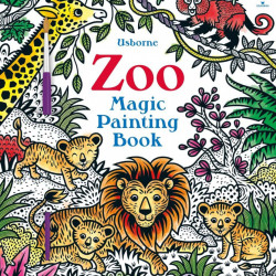 Carte de pictat doar cu apa, Zoo Magic Painting, usborne
