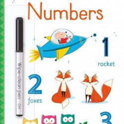 Carte de tip scrie și șterge, Little wipe-clean numbers