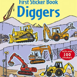 Diggers, first sticker book, usborne