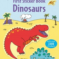 First sticker book dinosaurs, usborne