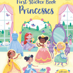First Sticker Book Princesses, Usborne, 3+