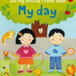Getting dressed sticker book, my day, usborne