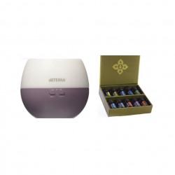 Pachet promotional, difuzor petal 2.0 doterra cu ultrasunete si kit 10x5 ml uleiuri esentiale pure, indispensabile familiilor cu copii, Doterra