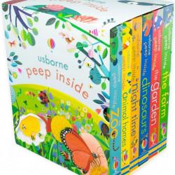 Peep inside box, set de 6 cărți cu clapete, usborne