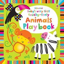 Baby's very first touchy feely animals playbook, carte senzoriala pentru bebeluși, usborne