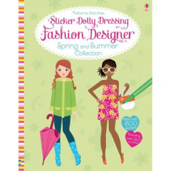 "Carte de activitati ""Fashion designer Spring and Summer collection"" , 7 ani+, Usborne"