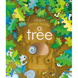"Carte ""Peep inside a tree"", 3 ani+, Usborne"