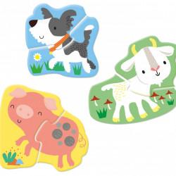 Carte si puzzle, Usborne First Jigsaws: Farm Animals, Matthew Oldham, 2+