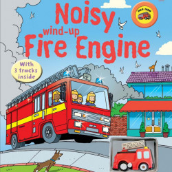 Carte sonora cu jucarie, Noisy wind-up fire engine, usborne