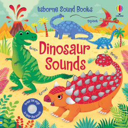 Carte sonora Dinosaur Sounds, Usborne, 3+