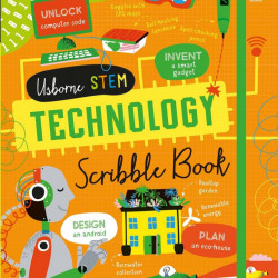 "Carte ""Technology scribble book"", cu coperta tare de Alice James, 7 ani+, Usborne"