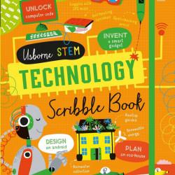 """Carte """"Technology scribble book"""", cu coperta tare de Alice James, 7 ani+, Usborne"""