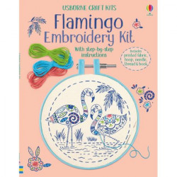 "Kit ""Embroidery kit: Flamingo"" de Lara Bryan, 7 ani+, Usborne"