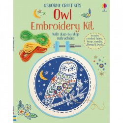 "Kit ""Embroidery Kit: Owl"", 7 ani+, Usborne"