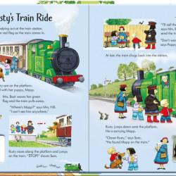 Poppy and Sam's Wind-up Train Book, Usborne, 3+