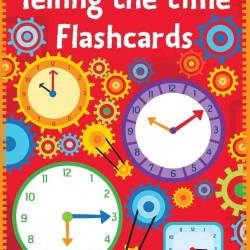 Telling the time flash wipe and clean cards