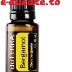 Ulei esential bergamota, Bergamotă Citrus bergamia, 15 ml, pt intinerirea aspectului tenului, reducerea stresului, Doterra