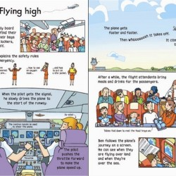 Wind-up plane book, carte cu jucărie, usborne