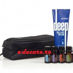 Athlete's Kit, crema deep blue + 5 uleiuri la 5ml, Doterra