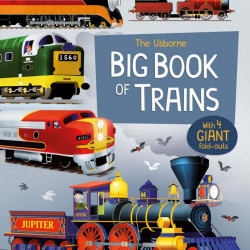 "Carte ""Big book of trains"", 3 ani+, Usborne"