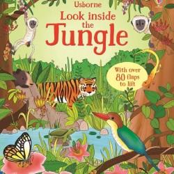 Carte cu multe clapete pentru copii curiosi, Look inside the jungle