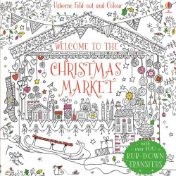 "Carte de colorat ""Welcome to the Christmas market"", 4 ani+, Usborne"