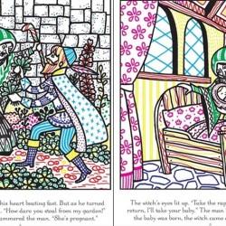 Carte magica de pictat doar cu apa, Rapunzel magic paint, usborne
