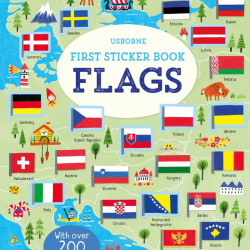 First Sticker Book Flags, 3+, Usborne