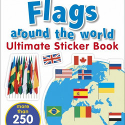 Flags Around the World Ultimate Sticker Book, DORLING KINDERSLEY CHILDREN'S, dk