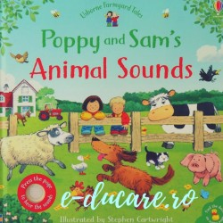 Poppy and Sam's animal sounds, carte sonora pentru copii, usborne