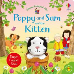 Poppy and Sam and the Kitten, finger puppet book, Sam Taplin, Usborne, 1+