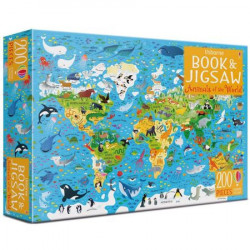 "Set Puzzle ""Animals of the world"" de Sam Smith, 5 ani+, Usborne"