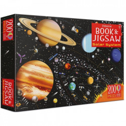 "Set Puzzle ""The solar system book and jigsaw"", 6 ani+, Usborne"