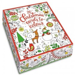 20 christmas cards to colour, 20 felicitari de pictat, usborne