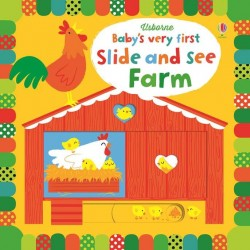Baby's very first slide and see farm, Usborne