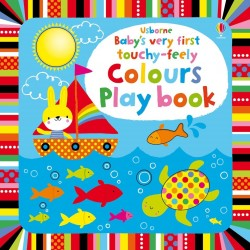 Baby's very first touchy-feely colours playbook, carte senzoriala pentru bebelusi, Usborne