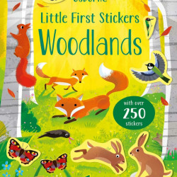 Carte cu abtibilduri, Little First Stickers Woodlands, Usborne