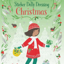 Carte cu abtibilduri, Little Sticker Dolly Dressing Christmas, Usborne