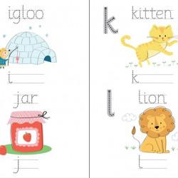 Carte de tip scrie și șterge la nesfârșit Little wipe-clean alphabet