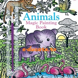 Carte magica de pictat doar cu apa, Magic painting animals, Usborne