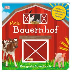 Carte sonora in limba germana cu clapete, Ferma mea, Mein Bauernhof, DK, 2+