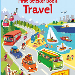 First Sticker Book Travel, 3+, Usborne