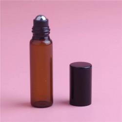 Recipient roll-on din sticla, cu bila metalică, pentru prepararea blendurilor și dilutiilor