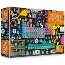"Set Puzzle ""Periodic table picture book and jigsaw"" de Sam Smith, 7 ani+, Usborne"